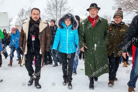 Klemens Hallmann, Heather Milligan and Arnold Schwarzenegger