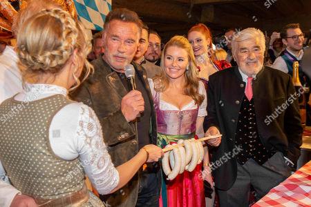 Alfons Schuhbeck, Maria Hauser, Arnold Schwarzenegger, Heather Milligan, Andreas Gabalier and Mario Adorf