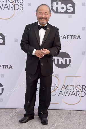 Stock Image of Clyde Kusatsu arrives at the 25th annual Screen Actors Guild Awards at the Shrine Auditorium & Expo Hall, in Los Angeles