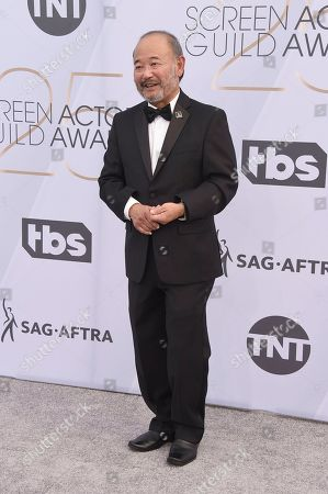 Clyde Kusatsu arrives at the 25th annual Screen Actors Guild Awards at the Shrine Auditorium & Expo Hall, in Los Angeles
