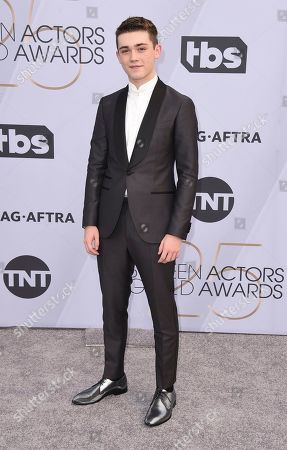 Keidrich Sellati arrives at the 25th annual Screen Actors Guild Awards at the Shrine Auditorium & Expo Hall, in Los Angeles