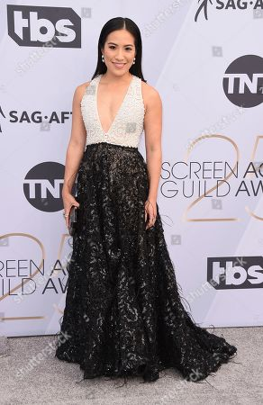 Melissa Tang arrives at the 25th annual Screen Actors Guild Awards at the Shrine Auditorium & Expo Hall, in Los Angeles