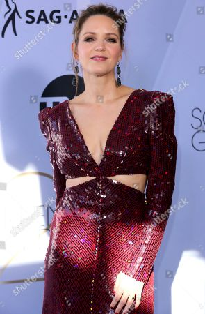 Jordana Spiro arrives at the 25th annual Screen Actors Guild Awards at the Shrine Auditorium & Expo Hall, in Los Angeles