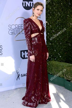 Stock Picture of Jordana Spiro arrives at the 25th annual Screen Actors Guild Awards at the Shrine Auditorium & Expo Hall, in Los Angeles