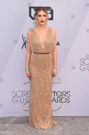 Danika Yarosh arrives at the 25th annual Screen Actors Guild Awards at the Shrine Auditorium & Expo Hall, in Los Angeles