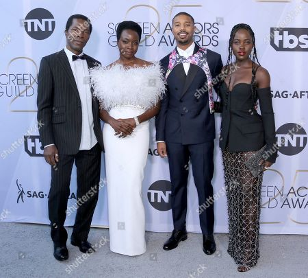 Isaach De Bankole, Danai Gurira, Michael B. Jordan, Lupita Nyong'o. Isaach De Bankole, from left, Danai Gurira, Michael B. Jordan and Lupita Nyong'o arrive at the 25th annual Screen Actors Guild Awards at the Shrine Auditorium & Expo Hall, in Los Angeles