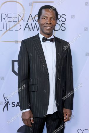 Isaach De Bankole arrives at the 25th annual Screen Actors Guild Awards at the Shrine Auditorium & Expo Hall, in Los Angeles