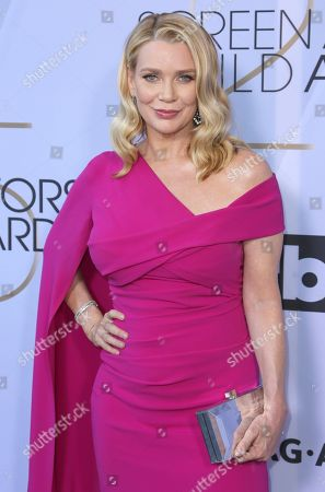 Laurie Holden arrives at the 25th annual Screen Actors Guild Awards at the Shrine Auditorium & Expo Hall, in Los Angeles