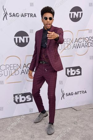 Darrell Britt-Gibson arrives at the 25th annual Screen Actors Guild Awards at the Shrine Auditorium & Expo Hall, in Los Angeles