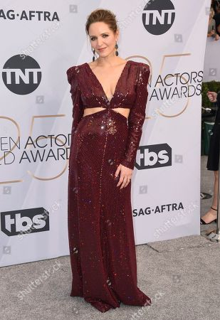 Stock Image of Jordana Spiro arrives at the 25th annual Screen Actors Guild Awards at the Shrine Auditorium & Expo Hall, in Los Angeles