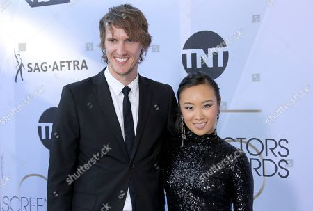 Adam Azimov, Ellen Wong. Ellen Wong, right, and Adam Azimov arrive at the 25th annual Screen Actors Guild Awards at the Shrine Auditorium & Expo Hall, in Los Angeles