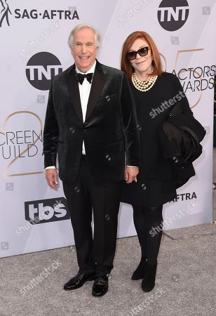 Henry WInkler, Stacey Weitzman. Henry Winkler, left, and Stacey Weitzman arrive at the 25th annual Screen Actors Guild Awards at the Shrine Auditorium & Expo Hall, in Los Angeles