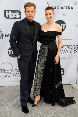 Stock Photo of Wyatt Nash (L) and Aubrey Swander arrive for the 25th annual Screen Actors Guild Awards ceremony at the Shrine Auditorium in Los Angeles, California, USA, 27 January 2019.