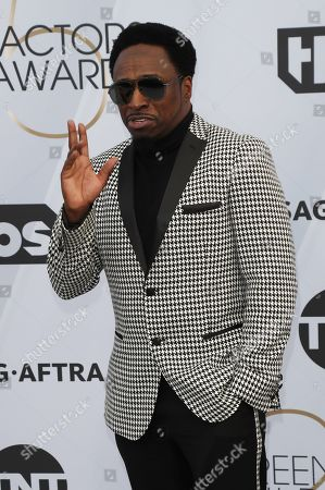 Stock Photo of Eddie Griffin arrives for the 25th annual Screen Actors Guild Awards ceremony at the Shrine Auditorium in Los Angeles, California, USA, 27 January 2019.