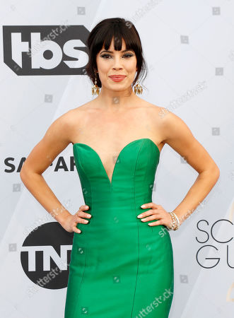 Jenna Lyng Adams arrives for the 25th annual Screen Actors Guild Awards ceremony at the Shrine Auditorium in Los Angeles, California, USA, 27 January 2019.