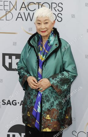 Lisa Lu arrives for the 25th annual Screen Actors Guild Awards ceremony at the Shrine Auditorium in Los Angeles, California, USA, 27 January 2019.