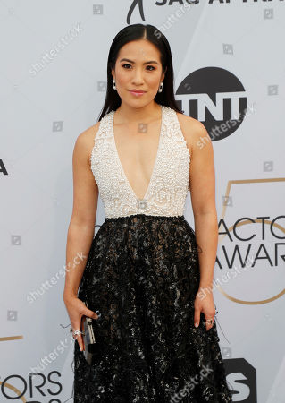 Melissa Tang arrives for the 25th annual Screen Actors Guild Awards ceremony at the Shrine Auditorium in Los Angeles, California, USA, 27 January 2019.