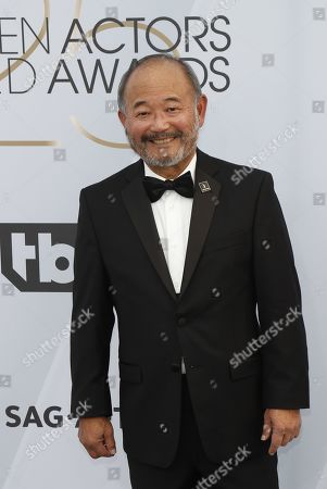Stock Picture of Clyde Kusatsu arrives for the 25th annual Screen Actors Guild Awards ceremony at the Shrine Auditorium in Los Angeles, California, USA, 27 January 2019.
