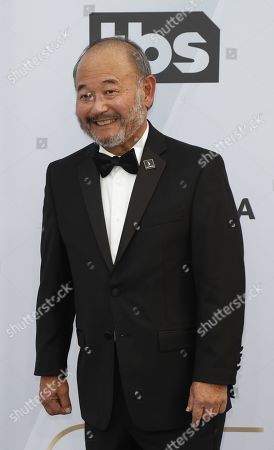 Stock Photo of Clyde Kusatsu arrives for the 25th annual Screen Actors Guild Awards ceremony at the Shrine Auditorium in Los Angeles, California, USA, 27 January 2019.