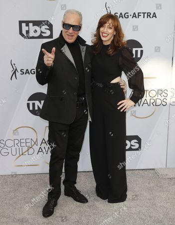 Andrew Dice Clay (L) and Eleanor Kerrigan arrive for the 25th annual Screen Actors Guild Awards ceremony at the Shrine Auditorium in Los Angeles, California, USA, 27 January 2019.