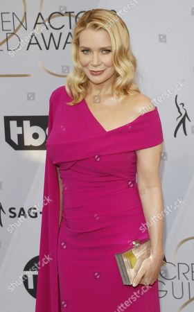 Laurie Holden arrives for the 25th annual Screen Actors Guild Awards ceremony at the Shrine Auditorium in Los Angeles, California, USA, 27 January 2019.