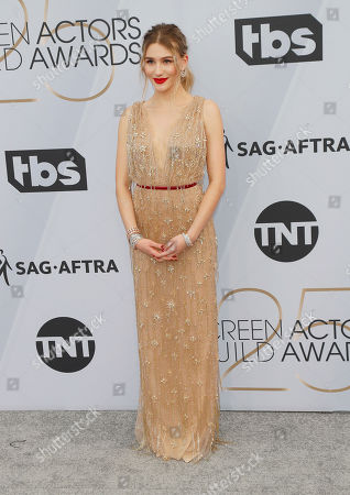 Sofia Hublitz for the 25th annual Screen Actors Guild Awards ceremony at the Shrine Auditorium in Los Angeles, California, USA, 27 January 2019.