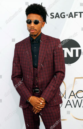 Darrell Britt-Gibson arrives for the 25th annual Screen Actors Guild Awards ceremony at the Shrine Auditorium in Los Angeles, California, USA, 27 January 2019.