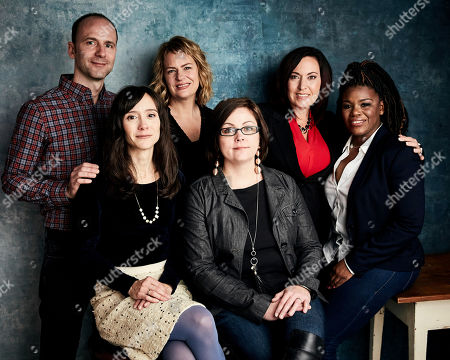 "Robin Blotnick, Rachel Lears, Sarah Olson, Paula Jean Swearengin, Amy Vilela, Cori Bush. Robin Blotnick, from left, director Rachel Lears, Sarah Olson, Paula Jean Swearengin, Amy Vilela, and Cori Bush pose for a portrait to promote the film ""Knock Down the House"" at the Salesforce Music Lodge during the Sundance Film Festival, in Park City, Utah"