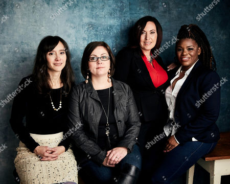 "Rachel Lears, Paula Jean Swearengin, Amy Vilel, Cori Bush. Director Rachel Lears, from left, Paula Jean Swearengin, Amy Vilela and Cori Bush pose for a portrait to promote the film ""Knock Down the House"" at the Salesforce Music Lodge during the Sundance Film Festival, in Park City, Utah"