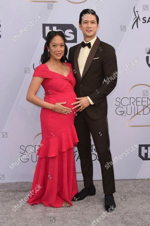 Shelby Rabara, Harry Shum Jr. Shelby Rabara, left, and Harry Shum Jr. arrive at the 25th annual Screen Actors Guild Awards at the Shrine Auditorium & Expo Hall, in Los Angeles