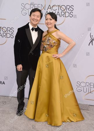 Ken Jeong, Tran Jeong. Ken Jeong, left, and Tran Jeong arrive at the 25th annual Screen Actors Guild Awards at the Shrine Auditorium & Expo Hall, in Los Angeles