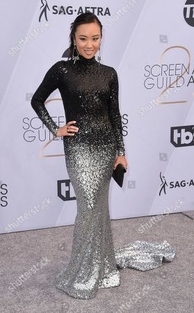 Ellen Wong arrives at the 25th annual Screen Actors Guild Awards at the Shrine Auditorium & Expo Hall, in Los Angeles