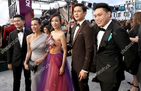 Ronny Chieng, Tan Kheng Hua, Fiona Xie, Harry Shum Jr., Jon M. Chu. Ronny Chieng, from left, Tan Kheng Hua, Fiona Xie, Harry Shum Jr., and Jon M. Chu arrive at the 25th annual Screen Actors Guild Awards at the Shrine Auditorium & Expo Hall, in Los Angeles