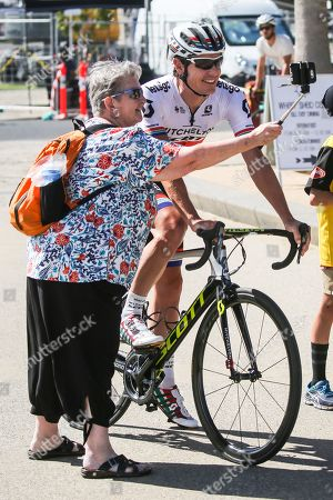 Daryl IMPEY (RSA) with a fan before the 2019 Cadel Evans Great Ocean Road Elite Mens Race