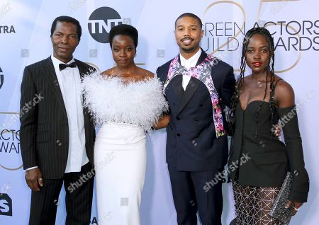 Stock Picture of Isaach De Bankole, Danai Gurira, Michael B. Jordan, Lupita Nyong'o. Isaach De Bankole, from left, Danai Gurira, Michael B. Jordan and Lupita Nyong'o arrive at the 25th annual Screen Actors Guild Awards at the Shrine Auditorium & Expo Hall, in Los Angeles