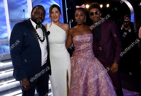 Brian Tyree Henry, D'Arcy Carden, Kirby Howell-Baptiste, Darrell Britt-Gibson. Brian Tyree Henry, from left, D'Arcy Carden, Kirby Howell-Baptiste, and Darrell Britt-Gibson attend the 25th annual Screen Actors Guild Awards at the Shrine Auditorium & Expo Hall, in Los Angeles