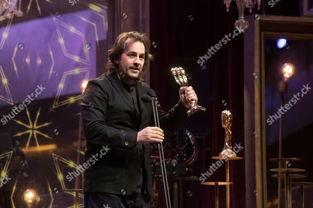 Isaki Lacuesta receives the Best Director award for the film 'Entre dos aguas' (Between Two Stools) during the 11th Gaudi Awards facilitated by the Academy of the Catalan Cinema, in Barcelona, Catalonia, Spain, 27 January 2019.