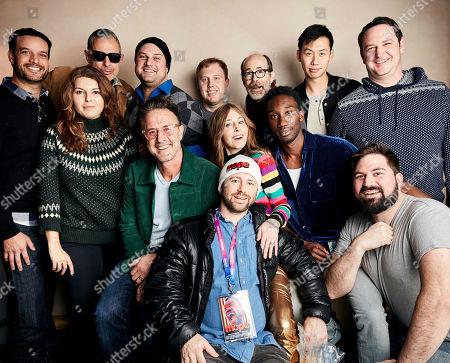 Jeff Goldblum, Kern Saxton, Elena Cristiean, Max Adler, Lucas Heyne, Kelly Sry, Kelly Hayes, David Arquette, Tonya Cornelisse Nathan Stewart-Jarrett, Danny Roth, Bp Cooper. Jeff Goldblum, second from top left,