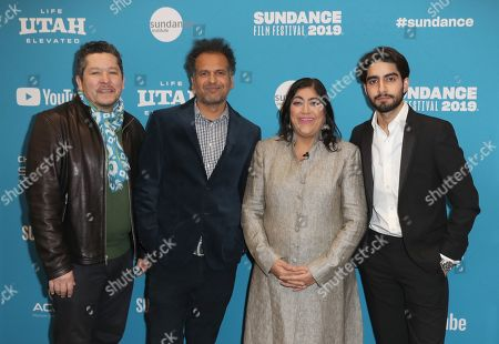 Paul Mayeda Berges, British writer Sarfraz Manzoor, British director Gurinder Chadha and British actor Viveik Kalra arrive for the premiere of 'Blinded By The Light' at the 2019 Sundance Film Festival in Park City, Utah, USA, 27 January 2019. The festival runs from 24 January to 02 February 2019.