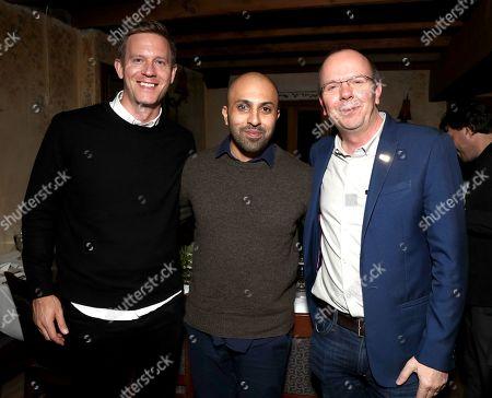 Co-Head Movies at Amazon Studios Matt Newman, Director Ritesh Batra and Founder and CEO of IMDb Col Needham
