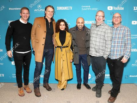 Senior Vice President, Business Development at Amazon Jeff Blackburn, Sanya Molhotra, Director Ritesh Batra, Co-Head of Movies for Amazon Studios Ted Hope and Head of Marketing and Distribution at Amazon Studios Bob Berney