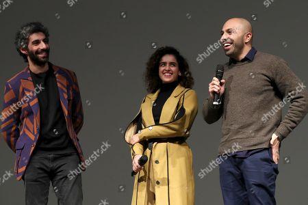 Jim Sarbh, Sanya Molhotra and Director Ritesh Batra