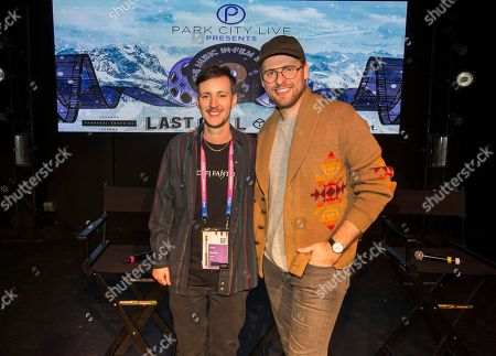 """Rhys Ernst, Jay Wadley. Rhys Ernst and Jay Wadley during the """"Adam"""" panel at the Last Call Presents the Complex Music in Film Summit, at Park City Live, in Park City, Utah"""