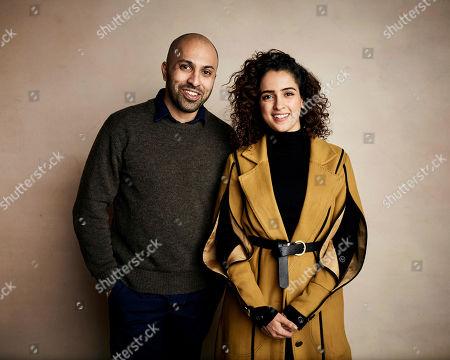 Writer/director Ritesh Batra, left, and Sanya Malhotra