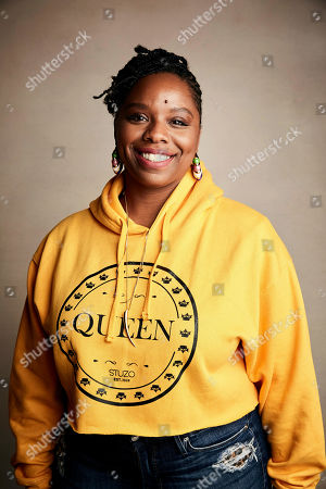 """Patrisse Cullors poses for a portrait to promote the film """"Bedlam"""" at the Salesforce Music Lodge during the Sundance Film Festival, in Park City, Utah"""