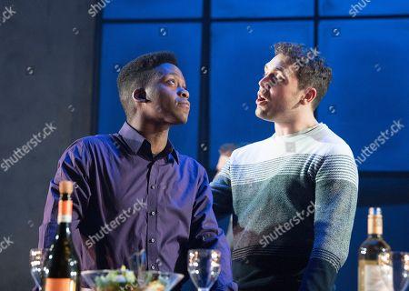 Tyrone Huntley as Obi, Billy Cullum as Alex