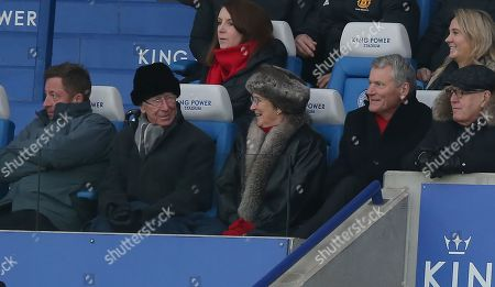 Sir Bobby Charlton and Lady Norma in the stands for the match looking happy at Man Utd win. Also Pictured David Gill