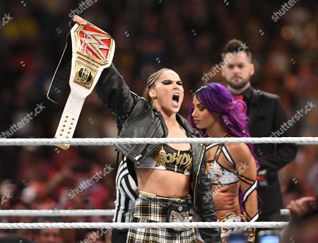 Stock Picture of Ronda Rousey and Sasha Banks