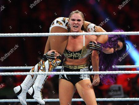 Ronda Rousey and Sasha Banks