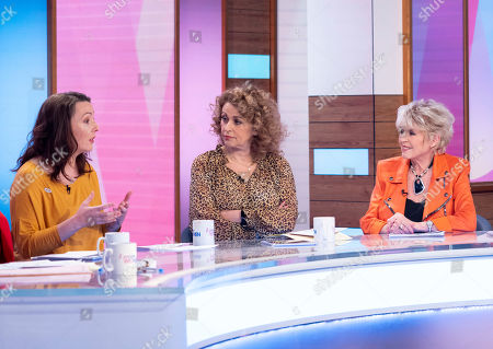 Delphi Ellis, Nadia Sawalha and Gloria Hunniford